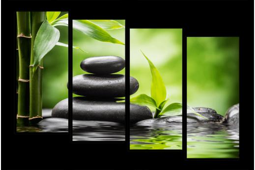 Модульная картина Зеленая гармония